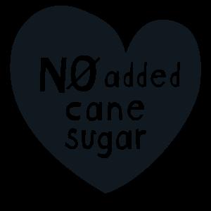 No added cane sugar